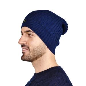 100% Baby Alpaka Damen Herren Mütze Paris Uni One Size für Kopfgrößen XS-XL (Farbe: Kirschrot)