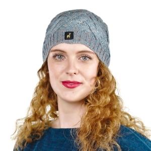 Alpaka Mütze Santa für Damen mit Bommel One Size für Kopfgrößen XS-XL (Farbe: Kupfer-Orange)