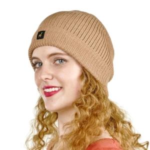 Mütze Casablanca 100% Baby Alpaka für Damen One Size für Kopfgrößen S-XL (Farbe: Beige)