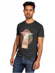 T-Shirt Phoenix uni 100% (Bio) Baumwolle Damen und Herren (Größe: L Dunkelgrau)