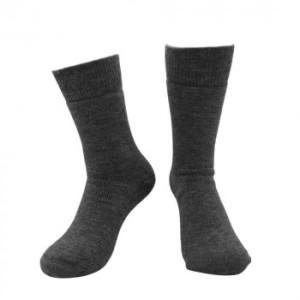 Alpaka Soft Socken für Damen und Herren mit Baby Alpaka (Farbe: Grau 42-44)