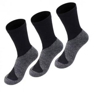 3er Pack Alpaka Trekking Socken für Damen und Herren (Farbe: Schwarz 45-48)