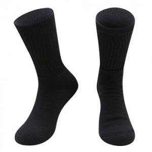 Alpaka Tennis-Sport Socken für Damen und Herren (Farbe: Schwarz 45-48)