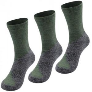 3er Pack Alpaka Jagd Socken für Damen und Herren (Farbe: Olive 42-44)