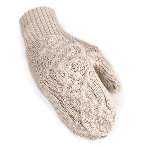 Handschuhe London Uni aus 100% Alpaka One Size für Größen S-XL Damen und Herren (Farbe: Beige)