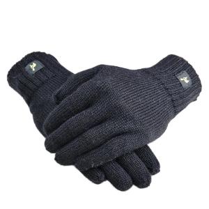 Alpaka Handschuhe Nevada Uni 100% Baby Alpaka Damen und Herren (Größe/Farbe: S/Schwarz)