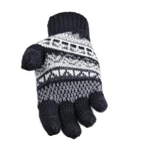Alpaka Handschuhe Inka Uni 100% Baby Alpaka Damen und Herren (Größe/Farbe: S/Schwarz)