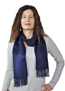 Premium 100% Baby Alpaka Schal Moskau Uni One Size Damen und Herren (Farbe: Schwarz)