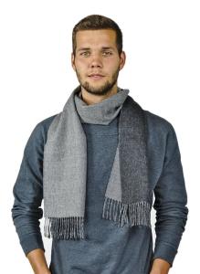 Damen und Herren Schal Oslo 100% Baby Alpaka Uni One Size für jeden Anlass (Farbe: Schwarz-grau)
