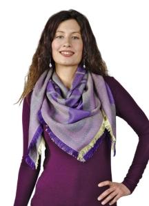 Alpaka Stola Meli aus Baby Alpaka und Seide One Size (Farbe: Violett)