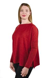 Pullover Jessica 100% Premium Baby Alpaka für Damen (Größe/Farbe: S/M/Petrolblau)