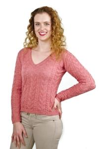 Pullover Mia 100% Baby Alpaka für Damen (Größe/Farbe: M/Dunkelrosa)
