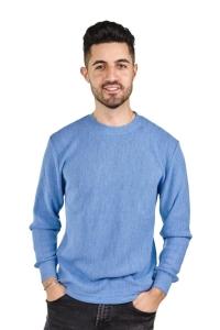 Pullover George 100% Baby Alpaka für Herren (Größe/Farbe: L/Blaugrau)