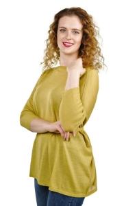 Pullover Sinthia 100% Baby Alpaka für Damen (Größe/Farbe: L/Senfgelb)