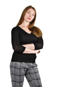 Pullover Bella 100% Baby Alpaka für Damen (Größe/Farbe: S/Schwarz)