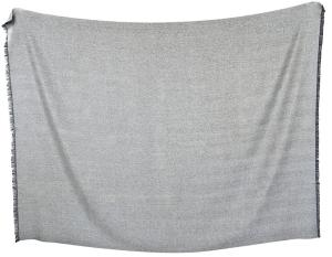 Decke Premium Baby Alpaka Gary One Size (Farbe: Hellgrau)