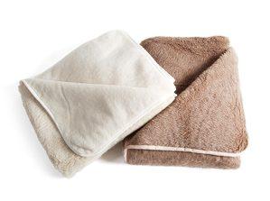 Couchdecke Alpakaflor (Farbe: braun)