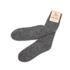 Kinder Alpaka Socken in dunkelgrau (Größe: Größe 19 - 22)