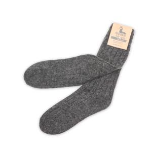 Alpaka Socken dünn in dunkelgrau, 92% Alpakawolle (Größe: Größe 43 - 46)
