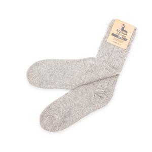 Alpaka Socken dünn in hellgrau, 92% Alpakawolle (Größe: Größe 39 - 42)