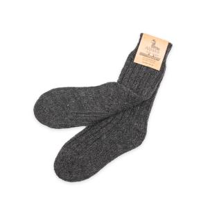 Alpaka Socken dick in dunkelgrau, 92% Alpakawolle (Größe: Größe 39 - 42)