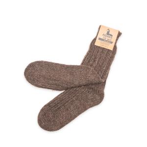 Alpaka Socken dick in dunkelbraun, 92% Alpakawolle (Größe: Größe 43 - 46)
