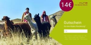 Gutschein Alpaka Wanderung (Gutscheintyp: Gutschein Alpaka Wanderung für 1 Kind)