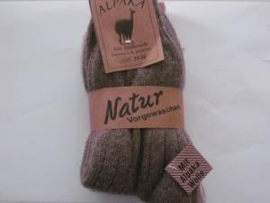 Kinder Alpaka Socken in dunkelbraun (Größe: Größe 35 - 36)