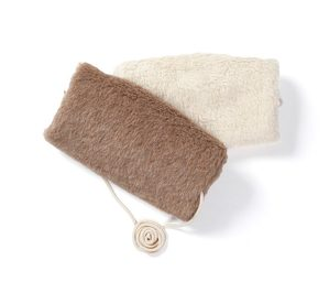 Muff Alpakaflor für Kinder (Farbe: Braun)