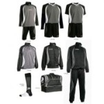 Fußballset -Set Goldkit  13-teilig -schwarz / grau (Größe: 3XS)