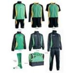 Fußballset -Set Goldkit  13-teilig - grün / blau (Größe: 3XS)