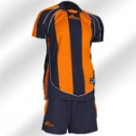 Royal-Trikot-Set - Raving - Fußball Trikot u. Hose orange/blau (Größe: XL)