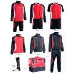 Fußballset -Set Goldkit  13-teilig - rot / schwarz (Größe: 2XS)
