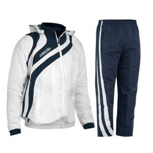 Kapuzen-Trainingsanzug  ALKMAN v. ACERBIS  blau /weiß (Größe: L)