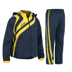 Kapuzen-Trainingsanzug  ALKMAN v. ACERBIS blau/gelb (Größe: 3XS)