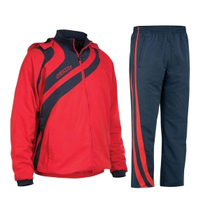 Kapuzen-Trainingsanzug  ALKMAN v. ACERBIS  blau /rot (Größe: M)
