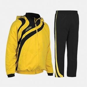Kapuzen-Trainingsanzug  ALKMAN v. ACERBIS  , gelb-schwarz (Größe: 3XS)