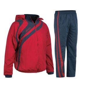 Kapuzen-Trainingsanzug  ALKMAN v. ACERBIS weinrot /blau (Größe: XL)