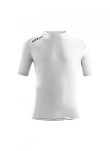 Kurzarm-Trainings-Shirt  ATLANTIS  v. ACERBIS , weiß (Astro  dunkelblau: XS)
