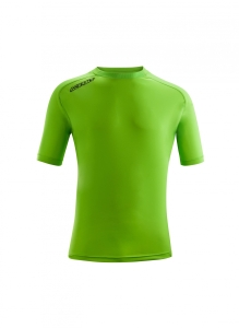 Kurzarm-Trainings-Shirt  ATLANTIS  v. ACERBIS , neongrün (Astro  dunkelblau: 2XL)