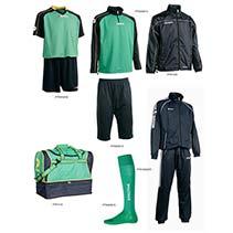 Fußballset -Set  Silverkit  9-teilig - grün/blau (Größe: XL)