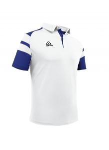 Poloshirt  Kemari von Acerbis , weiß- blau , Gr. 5XS-4XL (Größe: 4XS=  Gr. 120-132)
