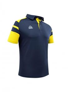 Poloshirt  Kemari von Acerbis ,  blau - gelb , Gr. 5XS-4XL (Größe: 4XS=  Gr. 120-132)