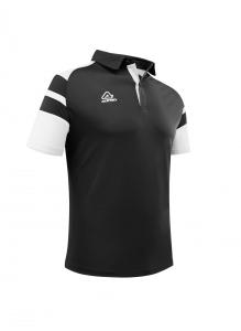 Poloshirt  Kemari von Acerbis ,  schwarz-weiß , Gr. 5XS-4XL (Größe: 4XS=  Gr. 120-132)