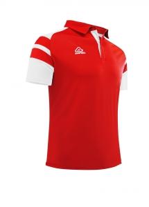 Poloshirt  Kemari von Acerbis ,  rot-weiß , Gr. 5XS-4XL (Größe: 4XS=  Gr. 120-132)