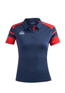 Damen Poloshirt  Kemari v. Acerbis ,   blau - rot , Gr. 4XS-3XL (Größe: 4XS=  Gr. 120-132)