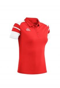 Damen Poloshirt  Kemari v. Acerbis , rot - weiß , Gr. 4XS-3XL (Größe: L)