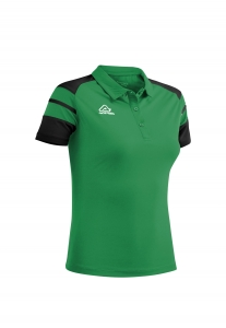 Damen Poloshirt  Kemari v. Acerbis , grün - schwarz , Gr. 4XS-3XL (Größe: L)
