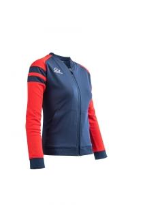 Frauen-Trainingsjacke  KEMARI  v. ACERBIS  blau / rot (Größe: 4XS)