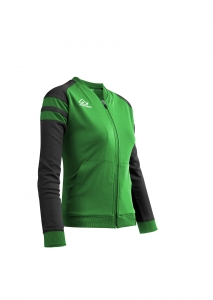 Frauen-Trainingsjacke  KEMARI  v. ACERBIS  grün/schwarz (Größe: M)